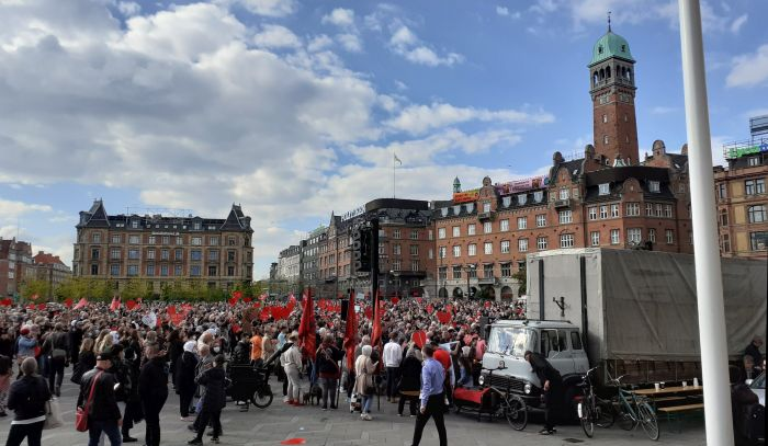 Demonstration på Rådhuspladsen