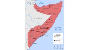 Kort over Somalia
